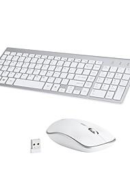 Недорогие -Беспроводная 2.4GHz Комбинация клавиатуры мыши Портативные / DPI Регулируемая 3 батареек АА Мембранная клавиатура Управление мышью 800/1200/1600 dpi 4 pcs