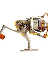 baratos -Molinetes de Pesca Molinetes Rotativos 5.5:1 Relação de Engrenagem+10 Rolamentos Destro Pesca de Mar / Pesca de Água Doce / Pesca de Carpa