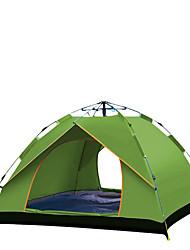 Недорогие -TANXIANZHE® 4 человека Семейный кемпинг-палатка На открытом воздухе С защитой от ветра, Дожденепроницаемый, Воздухопроницаемость Автоматический Палатка 2000-3000 mm для