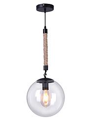 Недорогие -Круглый Люстры и лампы Рассеянное освещение Окрашенные отделки Металл Стекло Защите для глаз 110-120Вольт / 220-240Вольт Лампочки не включены / FCC / E26 / E27