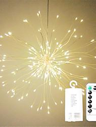 Недорогие -1pc 100leds привело фейерверк строки огни 20 см пульт дистанционного управления starburst огней складной букет формы свет строки привело строку Рождество