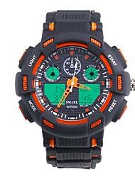 Недорогие -SMAEL Муж. Спортивные часы Японский Цифровой Черный 50 m Защита от влаги Календарь Секундомер Аналого-цифровые Мода - Черный / Синий Оранжевый / черный / Фосфоресцирующий