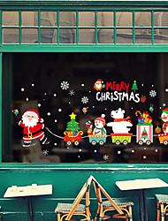 Недорогие -Оконная пленка и наклейки Украшение Животный принт / Рождество Персонажи ПВХ Стикер на окна / обожаемый / Веселая
