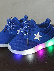 abordables -Garçon / Fille Chaussures Maille Printemps & Automne Confort / Chaussures Lumineuses Basket Lacet / LED pour Enfants / Bébé Noir / Bleu / Rose