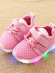 cheap -Boys' / Girls' Shoes Mesh Spring &  Fall Comfort / Light Up Shoes Sneakers Hook & Loop / LED for Kids / Toddler White / Black / Pink