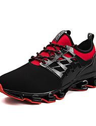 Недорогие -Муж. Комфортная обувь Эластичная ткань Весна Спортивные Спортивная обувь Беговая обувь Дышащий Черный / Черный / Красный / Черный / зеленый