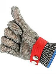 Недорогие -1шт Стальная проволока Перчатка Защитные перчатки Защита Безопасность и защита Противоскользящий Износостойкий Дышащий