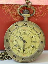 baratos -Homens Mulheres senhoras Relógio de Bolso Quartzo Relógio Casual Legal Lega Banda Analógico Casual Fashion Dourada - Dourado