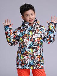 Недорогие -GSOU SNOW Мальчики Лыжная куртка С защитой от ветра, Водонепроницаемость, Теплый Катание на лыжах / Зимние виды спорта Полиэфир Верхняя часть Одежда для катания на лыжах