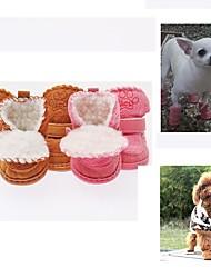 billige -Hund Sko & støvler Lukket Tå Ensfarvet / Tegneserie Kaffe / Lys pink For kæledyr