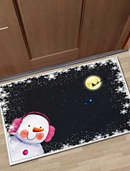 Недорогие -рождественские ковры рождественские 100g / m2 полиэфирные трикотажные стрейч, прямоугольный коврик высшего качества