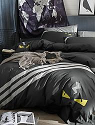 Недорогие -комплекты пододеяльников геометрические 100% хлопок реактивный принт Комплект постельного белья из 4 шт. / 4 шт. (1 пододеяльник, 1 плоский лист, 2 шамана) полный