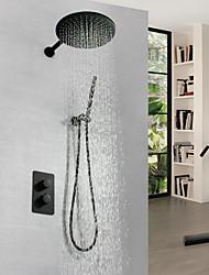 Недорогие -Смеситель для душа - Современный Окрашенные отделки На стену Медный клапан Bath Shower Mixer Taps / Латунь / Одной ручкой три отверстия