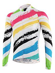 abordables -Arsuxeo Homme Maillot de Cyclisme - Blanc Créatif Cyclisme Hauts / Top, Anti-transpiration Polyster / Conçu sur Plusieurs Panneaux / Encre importée d'Italie / Dessous de Bras Respirants