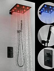 Недорогие -смеситель для душа - современная окраска настенного латунного клапана led