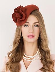 Недорогие -100% шерсть Кентукки дерби шляпа / Головные уборы с Цветы 1шт Повседневные / На каждый день Заставка