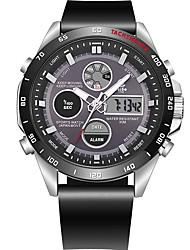Недорогие -Муж. Спортивные часы Японский Кварцевый Черный 100 m Защита от влаги Календарь Секундомер Аналого-цифровые На каждый день Мода - Черный Красный / Фосфоресцирующий