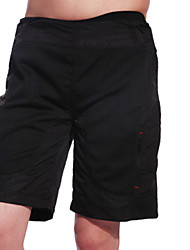 baratos -Jaggad Homens Bermudas Acolchoadas Para Ciclismo Moto Shorts / Shorts largos / Bermudas para MTB Respirável, Tapete 3D Sólido, Xadrez / Quadrados Poliéster, Elastano Preto Roupa de Ciclismo