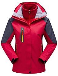 Недорогие -Жен. Куртка для туризма и прогулок Куртки 3-в-1 на открытом воздухе Осень Весна Зима / Водонепроницаемая молния / Анатомический дизайн / С защитой от ветра / С защитой от ветра