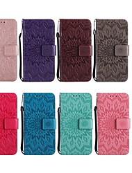 billiga -fodral Till Motorola G5 Plus / G5 Plånbok / Korthållare / med stativ Fodral Blomma Hårt PU läder för MOTO G6 / Moto G6 Plus / Moto G5s Plus