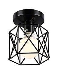 cheap -16cm Vintage Mini Painting Metal Cage Flush Mount Ceiling Light Fixture  For Living Room/Bedroom/Dining Room/Kitchen