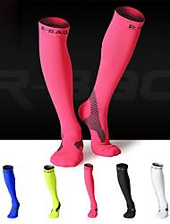 Недорогие -Спортивные носки / спортивные носки / Носки для бега Муж. Сжатие видеоизображений, Стреч - 1 пара Назначение Бадминтон / Бег / Велоспорт / Спандекс / Эластичная