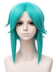 economico -Parrucche Cosplay / Parrucche sintetiche Liscio Parte di mezzo Capelli sintetici 14 pollice Manga / Cosplay Verde Parrucca Per donna Corto Senza tappo Verde