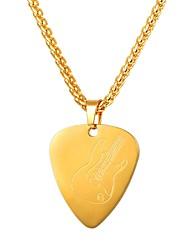 Недорогие -Муж. маскарадный Ожерелья с подвесками - Нержавеющая сталь модный, Мода Золотой, Черный, Серебряный 55 cm Ожерелье Бижутерия 1шт Назначение Подарок, Повседневные