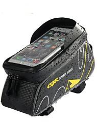 baratos -Bolsa para Quadro de Bicicleta 6 polegada Ciclismo para iPhone 8 Plus / 7 Plus / 6S Plus / 6 Plus Vermelho