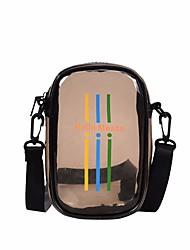 Недорогие -Жен. Мешки PU Мобильный телефон сумка Молнии Белый / Черный
