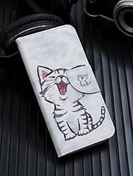رخيصةأون -غطاء من أجل Xiaomi Redmi 6 محفظة / حامل البطاقات / مع حامل غطاء كامل للجسم قطة قاسي جلد PU إلى Redmi 6A / Redmi 6