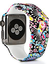 Недорогие -Ремешок для часов для Apple Watch Series 4/3/2/1 Apple Спортивный ремешок / Современная застежка силиконовый Повязка на запястье