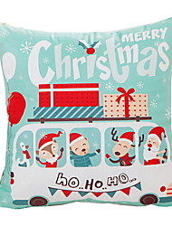 Недорогие -Наволочка Новогодняя тематика / Праздник Хлопковая ткань Квадратный Для вечеринок Рождественские украшения