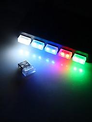 abordables -brelong led voiture couleur transparente usb allume-cigare changer atmosphère décorative lampe 1 pcs