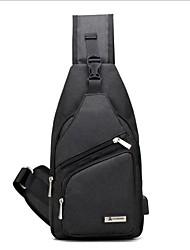 """Недорогие -Муж. Молнии Ткань """"Оксфорд"""" Слинг сумки на ремне Черный / Серый / Лиловый"""