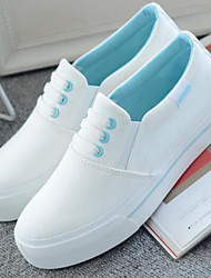 abordables -Femme Chaussures de confort Toile Printemps été Mocassins et Chaussons+D6148 Talon Plat Noir / Rose et blanc / Blanc / Bleu