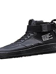 Недорогие -Муж. Комфортная обувь Кожа Наступила зима Кеды Беговая обувь Белый / Черный / Красный