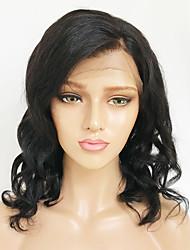 Недорогие -Натуральные волосы Лента спереди Парик Бразильские волосы Бирманские волосы Свободные волны Парик 130% Плотность волос с детскими волосами Женский Легко туалетный Лучшее качество Горячая распродажа