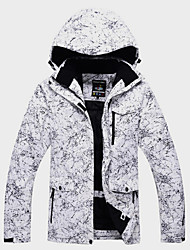 Недорогие -Универсальные Лыжная куртка С защитой от ветра, Водонепроницаемость, Сохраняет тепло Катание на лыжах / Зимние виды спорта / На открытом воздухе Зимняя куртка Одежда для катания на лыжах