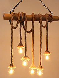 cheap -6-Light Industrial Chandelier Ambient Light 110-120V / 220-240V Bulb Not Included