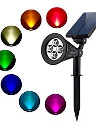 Недорогие -1шт 2 W Свет газонные Водонепроницаемый / Работает от солнечной энергии / Декоративная RGB 3.7 V Уличное освещение / двор / Сад 4 Светодиодные бусины