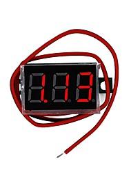baratos -miniatura de 0.36 polegada dc digital medidor de tensão cabeça dc 4.5 v-30 v de dois fios de exibição de precisão variável