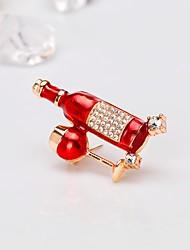 baratos -Mulheres Clássico Broches - Europeu, Fashion Broche Vermelho Para Presente / Diário