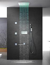 abordables -robinet de douche - robinet mural contemporain en laiton chromé
