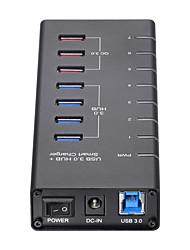 abordables -Unestech 7 Hub USB USB 3.0 USB 3.0 / USB Type B / USB 3.0 Type B Haut débit / Protection de l'Entrée / Design nouveau Hub de données