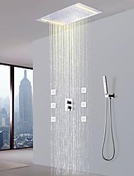 cheap -Shower Faucet - Contemporary Chrome Shower System Ceramic Valve / Brass
