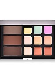 billiga Ansikte-12 färger Matt Concealer Foundation / Puder / Concealer Kina Fullständig Täckning Skola / Datum / Ledigt / vardag Smink Kosmetisk