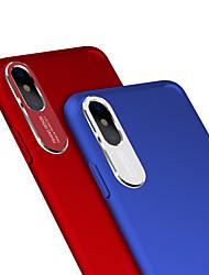 Недорогие -Кейс для Назначение Apple iPhone X Защита от пыли Кейс на заднюю панель Однотонный Твердый ПК / Металл для iPhone X
