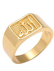 cheap -Men's Vintage Style 3D Band Ring - 18K Gold Plated, Gold Plated Cross, Creative Unique Design, Vintage 9 / 10 Gold For Daily Work