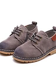 Недорогие -Мальчики Обувь Искусственная кожа Лето Удобная обувь Туфли на шнуровке для Дети (1-4 лет) Серый / Коричневый / Винный